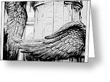Wing It Bw Greeting Card