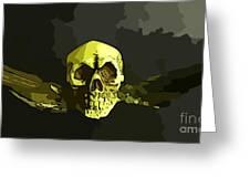 Winged Skull Greeting Card