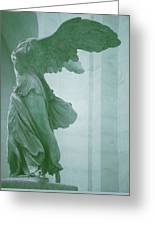 Winged Victory Of Samothrace Statue At The Louvre Museum        Greeting Card
