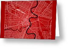 Winnipeg Street Map - Winnipeg Canada Road Map Art On Color Greeting Card