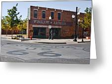 Winslow Arizona - Such A Fine Sight To See Greeting Card by Christine Till