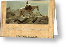 Winslow Homer 5 Greeting Card