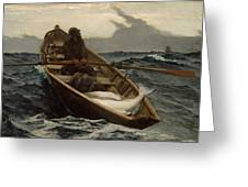 Winslow Homer The Fog Warning Greeting Card