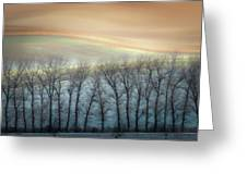 Winter Alley Greeting Card