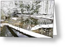 Winter Along Cranberry River Greeting Card