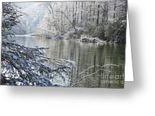 Winter Along Williams River Greeting Card by Thomas R Fletcher