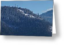 Winter And Mt Baldy Panorama Greeting Card