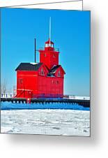 Winter At Big Red Greeting Card