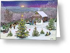 Winter At Campton Farm Greeting Card
