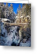 Winter At Christine Falls Greeting Card