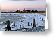 Winter At East Point Lighthouse  Greeting Card