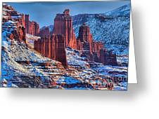 Winter At Fisher Towers Greeting Card