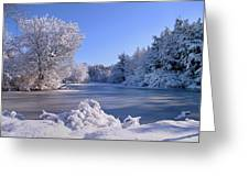 Winter At Lake Marmo Greeting Card