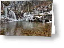 Winter At Lewis Falls Greeting Card
