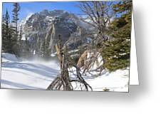 Winter At Loch Vale Greeting Card