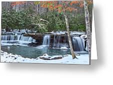 Winter At Mash Fork Falls Greeting Card