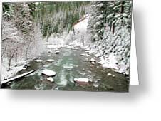 Winter At Mt Hood Greeting Card