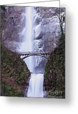 Winter At Multnomah Falls Greeting Card