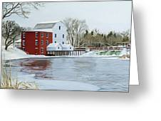 Winter At Phelps Mill Greeting Card