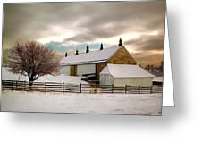 Winter At Piper Barn Anteitam National Battleground Greeting Card