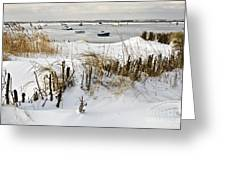 Winter At The Beach 2 Greeting Card