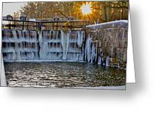 Winter At The Canal Greeting Card
