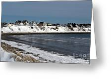 Winter At The Coast Greeting Card