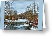 Winter At The Mattabeset River Greeting Card