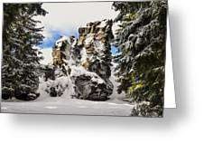 Winter At The Stony Summit Greeting Card