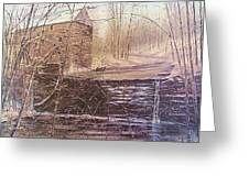 Winter At Wolf Pen Mill Greeting Card