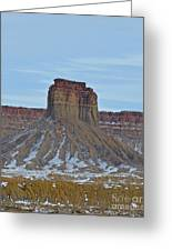 Winter Banded Butte Greeting Card
