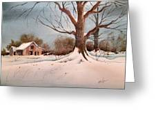 Winter Barn # 5 Greeting Card