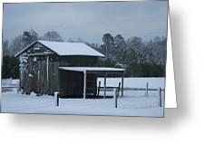 Winter Barn Greeting Card by Nelson Watkins