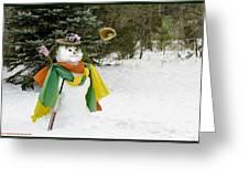 Winter Baseball Ball Gown  Greeting Card