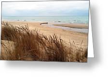 Winter Beach At Pier Cove Greeting Card