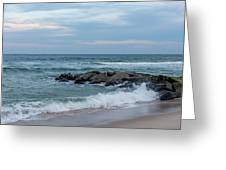 Winter Beach Day Lavallette New Jersey Greeting Card
