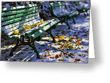 Winter Bench 3 Greeting Card