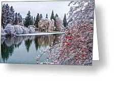 Winter Berries Greeting Card by Nichon Thorstrom