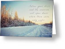 Winter Bliss Greeting Card