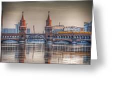 Winter Bridge Greeting Card by Nathan Wright