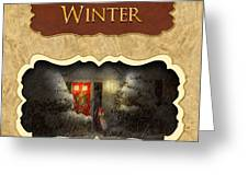 Winter Button Greeting Card by Mike Savad