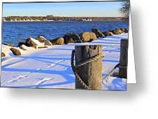 Winter By The Bay Greeting Card