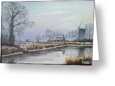 Winter By The River Greeting Card