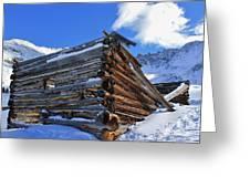 Winter Cabin Greeting Card