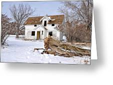 Winter Cleanup Greeting Card