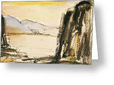 Winter Cliff Greeting Card