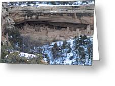 Winter Cliff Palace Greeting Card