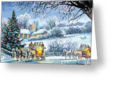 Winter Coaches Greeting Card