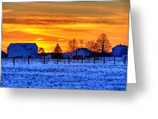 Winter Country Sunset Greeting Card