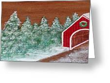 Winter Covered Bridge Greeting Card